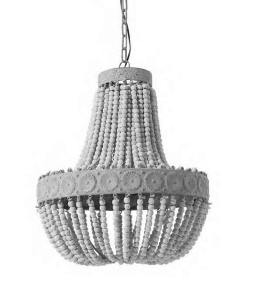 Suspension perles Luna blanc